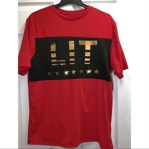 Brooklyn Laundry Red LIT Crew Neck T-shirt Size M